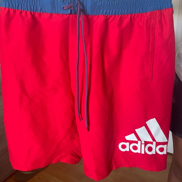 Adidas Red Swim trunks   Medium